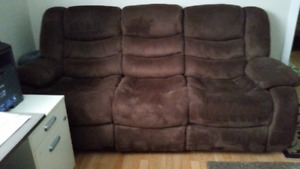 Reclining couch, love-seat, arm chair for sale in Barrie