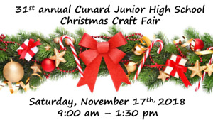 31st  Annual Cunard Junior High Christmas Craft Fair