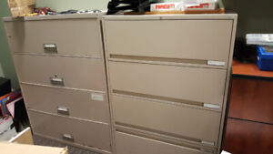 Large Filing Cabinets and Wood Drawers
