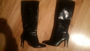 EUC Nine West Black knee high boots (2015) Kitchener / Waterloo Kitchener Area image 1
