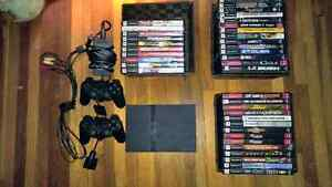 PS2 with a lot of games!