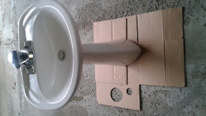 Small (hard to find size) pedestal sink for 2-pc bathroom