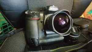 Nikon D2H + Fisheye and 50mm lens + Extras for Trade