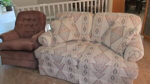 Loveseat and two armchairs
