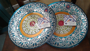 Hand painted serving platters