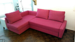 Sofa Bed with Chaise and Storage