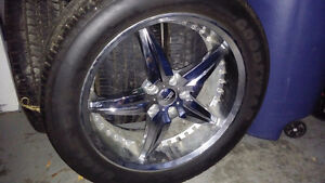 Foose 5 star rims with tires for Honda/Acura