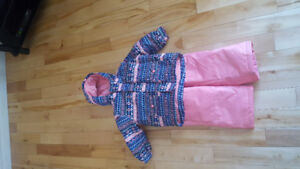3T girl snowsuit! Pink and blue patterns.