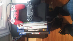 PS4 Slim 500gb with 2 Controllers, NHL 17, MLB 17, MLB 16, GTA 5