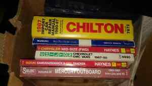 BOX OF AUTO/MARINE REPAIR MANUALS Belleville Belleville Area image 1