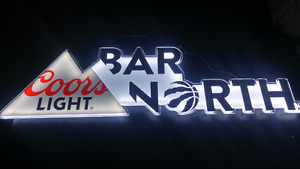 Toronto Raptors Coors light bar sign BRAND NEW