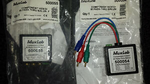 Muxlab 500054 and 500055 2-pack of Audio Video  Baluns