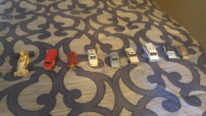 9 Toy cars from the 70's and 80's