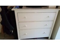 Chest of 3 Drawers - White