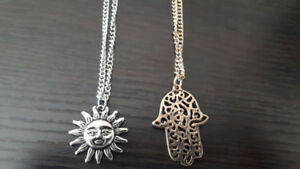 Sun & Hand Necklaces