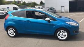 2016 Ford Fiesta 1.25 82 Zetec Blue 3dr Manual Petrol Hatchback