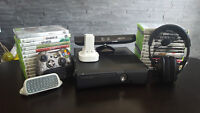 XBOX360 250GB + KINECT + TURTLEBEACH X12 + 25 JEUX