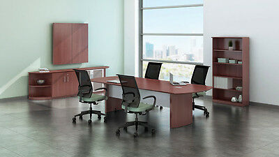 8ft Stylish Modern Office Conference Table With Mahogany Laminate Finish