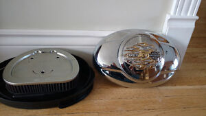Harley Davidson Complete Air Box Assembly with K&N Air Filter