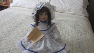 Reproduction Victorian doll by artist June Ellis.
