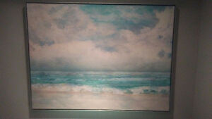 Beautiful Seascape Framed Canvas Art
