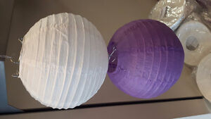 "NEW 8"" Paper lanterns in white or purple"