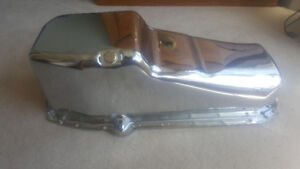 1955 to 1986 Small Block Chevy V8 Chrome Oil Pan NEW.  $100