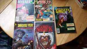 5 old comic books