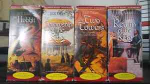 Lord of the Rings + The Hobbit  unabridged cassette audiobook
