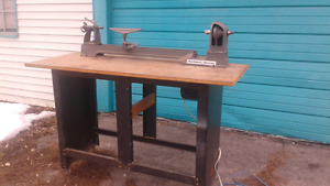 ROCKELL/BEAVER LATHE with steel bench