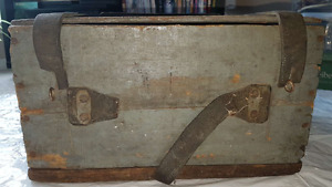 Old Wood Box Tool Chest