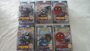 original marvel legends, spiderman classics,series 1-6 pcs.