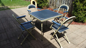 Retro Card Table & Chairs