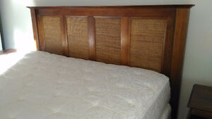 King-size bed, mattress and side tables. Pier One. Kingston Kingston Area image 3