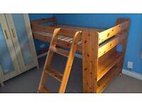 Pine cabin bed / mid sleeper