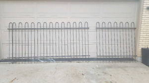 Vintage IRON fence sections