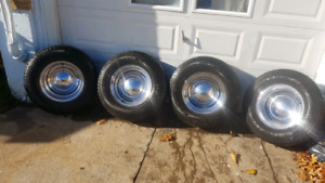 Chrome smoothie rims with Goodyear tires