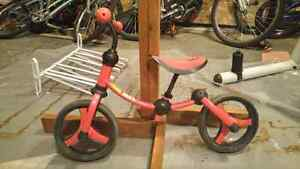 Toddler training bike with no pedals