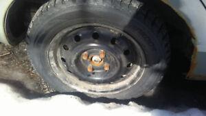 4 winter tires 1 all season spare