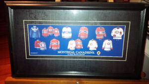 Montreal Canadiens Jerseys Through The Years, Framed Under Glass