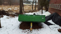 Snowmobile Trailer double ( john deere green & yellow )