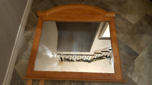 Country Style Wood Mirror