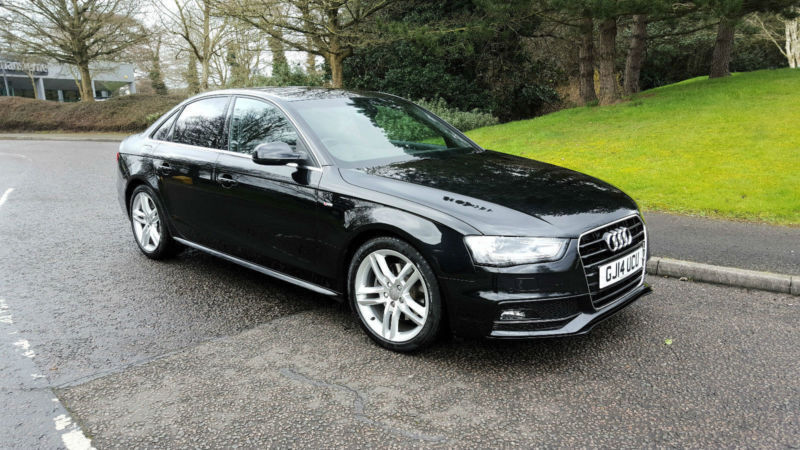2014 audi a4 s line 2 0 tdi cvt automatic black diesel main dealer warranty in watford. Black Bedroom Furniture Sets. Home Design Ideas