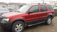 2006 Ford Escape XLT 4X4 AS IS
