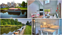 Lagoon City: WATERFRONT Townhouse, Updated, end unit
