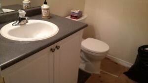 """36"""" vanity with sink and faucet"""