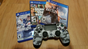 PS4 Games and Controller