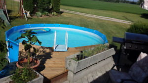 15ft pool with accessories and deck