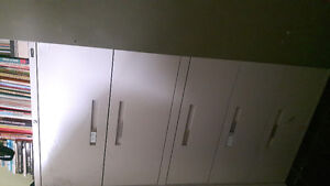 TWO 5 DRAWER LATERAL FILING  CABINETS