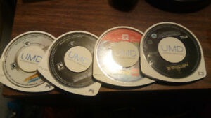 3 Psp games and Psp Movie